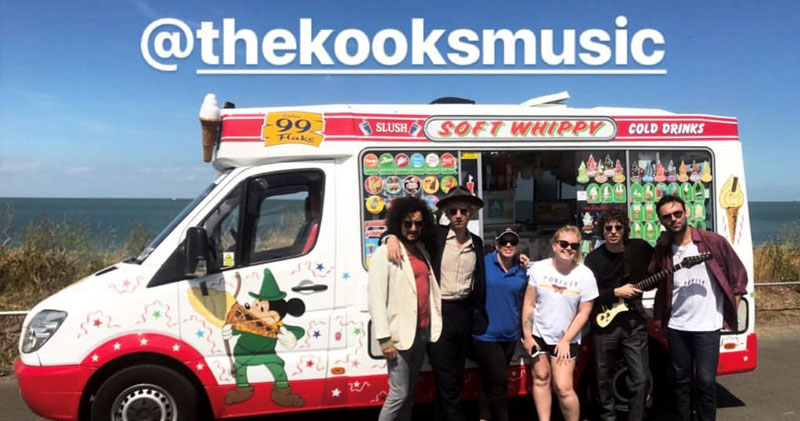 The Kooks with Tania's Ice Cream